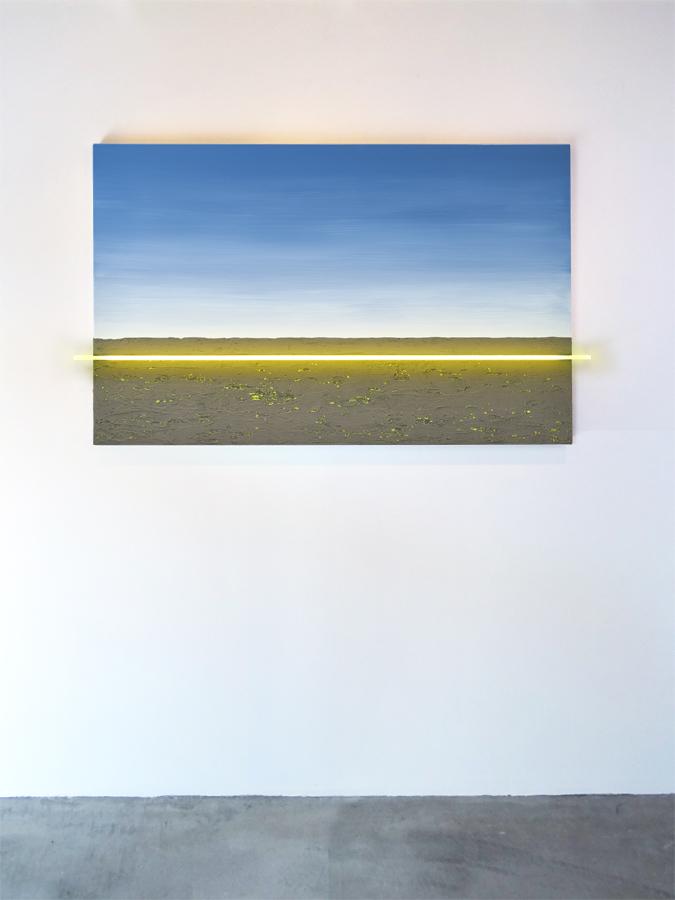 Schilderij met verlichting