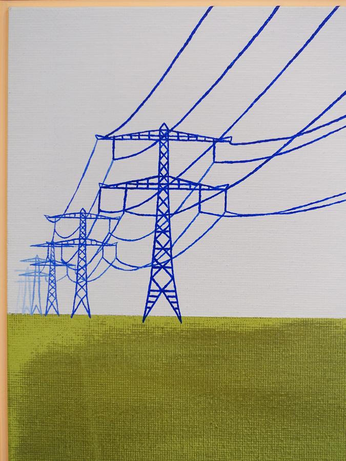 Polderpower elektriciteitsmasten