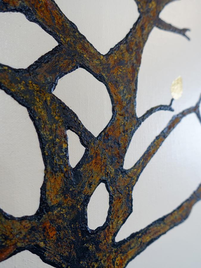 detail roest op boom
