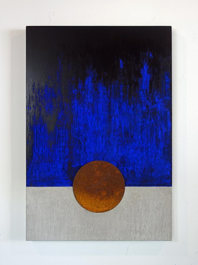 Wandsculptuur Blauwe nacht 1