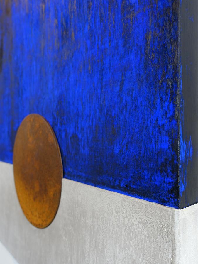 Houten paneel Blauwe nacht 1