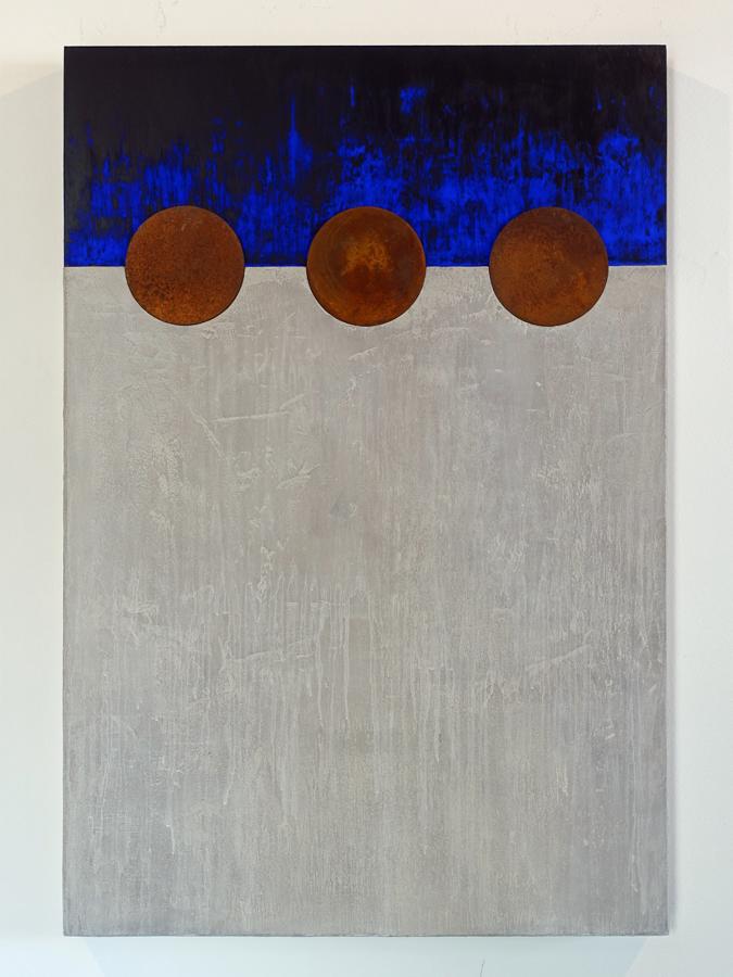 Wandsculptuur Blauwe nacht 2