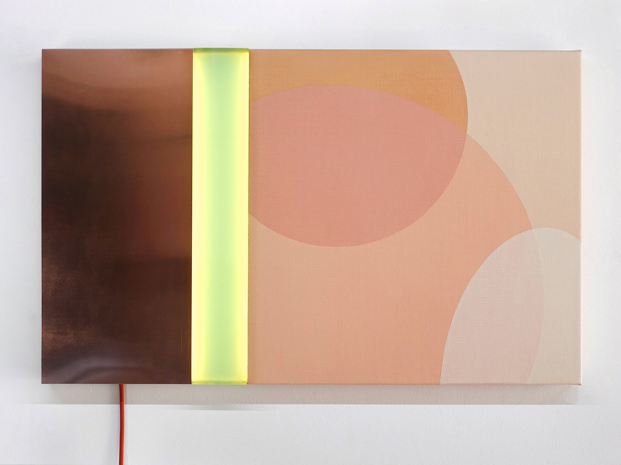 Lichtobject Nude horizontaal hangend